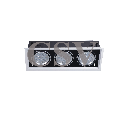 LED grille spotlight 12Wx3