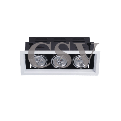 LED grille spotlight 3Wx3